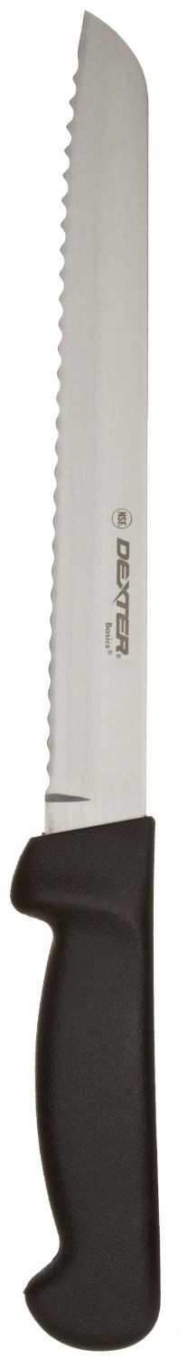 """Dexter-Russell Basics P94803B 8"""" Scalloped Bread Knife with Black Polypropylene Handle: Amazon.com: Industrial & Scientific"""