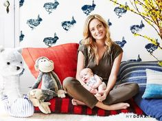 Actress Guerrin Gardner With Her Son in His Nursery