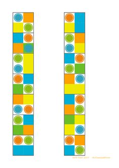 Tiles for the colorblock matching game. Cut and paste the tiles. By Autismespektrum