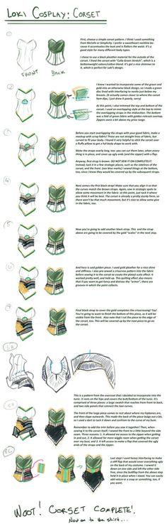 Loki cosplay guide: Corset by SirLadySketch on DeviantArt