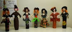SFM Cloth Dolls With Attitude! Made in a workshop from my pattern Practical Pindora!