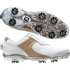 FootJoy Womens DryJoys Sport BOA Golf Shoes Custom COMFORT with smooth, even closure and no pressure points! The FootJoy Women DryJoys Inlay BOA delivers redefined golf shoe performance with additional midfoot support and motion control. Throw in the precision of the BOA closure system which allows you to minutely adjust the shoe closure and you'll sport a perfect precision fit every time. FootJoy Women DryJoys Sport BOA Golf Shoe features: Full grain leather uppers offer outstanding…