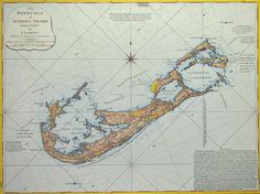 Antique Reproduction of Bermuda in 1797 Map $12.95