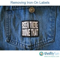 This is a guide about removing iron-on labels and patches. If the decal is beginning to peel up or you just want to remove it, you may be wondering how to get off iron on patches.