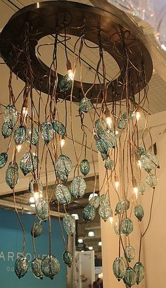 Studio Bel Vetro's handblown glass chandeliers. I would so have this in my foyer. This is perfect for my dream house.