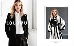 Sasha Pivovarova for Loudmut Fall Winter 2014