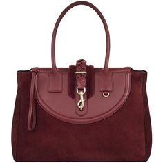 Hill and Friends Lucky Leather Tote Bag (571,705 KRW) ❤ liked on Polyvore featuring bags, handbags, tote bags, oxblood, red tote, red leather tote bag, handbags totes, red leather handbags and leather tote handbags