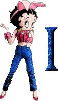 Alfabeto de Betty Boop conejita. | Oh my Alfabetos!