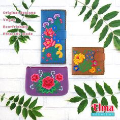 Shop Peta approved vegan brand LAVISHY's fun fashion accessories including bags, wallets, coin purses, travel accessories and beauty accessories. Travel Accessories, Fashion Accessories, Vegan Leather, Cool Style, Coin Purse, Embroidery, Purses, Amazon, Fun