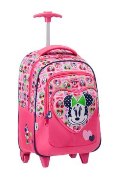 Disney Wonder - Minnie Mouse Backpack Wheels #Disney #Samsonite #MinnieMouse #Minnie #Mouse #Travel #Kids #School #Schoolbag #MySamsonite #ByYourSide #Flowers
