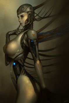 Cyberpunk, Future Girl, Robot Girl, Female Bot, Sci-Fi, Futuristic, Future, Science Fiction, Android
