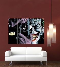 joker-batman-the-killing-joke-giant-wall-art-print-poster , [post_tags Poster Wall, Poster Prints, Dc Comics, Giant Wall Art, Geek Gadgets, Poster Pictures, Beauty Art, Art Forms, Really Cool Stuff
