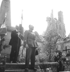 Open air Mass and memorial service, giving thanks for the liberation of Rots. The service was held on the 14th of july 1944.