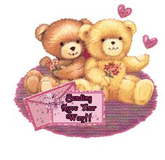 Sending Love Your Way love cute friendship gif teddy bears greeting friendship greeting