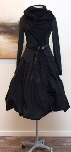 rundholz black label - Kleid Stoff Mix Wire black - Winter 2013