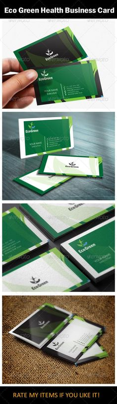 Eco Green Health Business Card Design