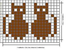Kissasukat (arkistomalli) | Novita knits Knitting Charts, Knitting Ideas, Animal Hats, Fair Isle Knitting, Crochet Chart, Stitch Patterns, Free Pattern, Cross Stitch, Tapestry