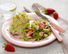 Lyssej med kartoffelmos og jordbærsalat Skøn sommermiddag fra Familie Journals Slankeklub