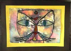 Paul Klee's Cat and Bird is captured in this felt painting!