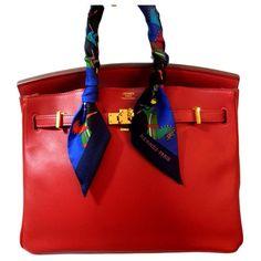 Sacs à main Hermès HERMES BIRKIN 25 Rouge Vermillion GHW Cuir Rouge ref.183288 - Joli Closet