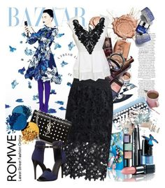 Romwe skirt by irinavsl on Polyvore featuring polyvore fashion style Vince Yves Saint Laurent clothing