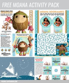 Free Printable Moana Activity Pack