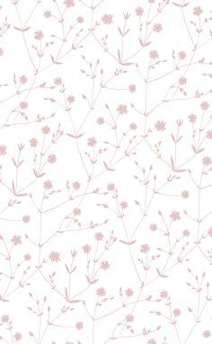 Illalla Wallpaper Cream/Dusty Rose