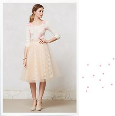 Lace and tulle skirt - Anthropologie