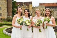 Summer bouquets in creams and whites at Penshurst Place