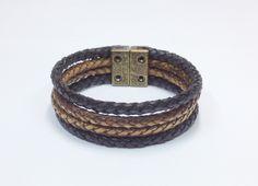 Pulseira de couro mens bracelets style fashion