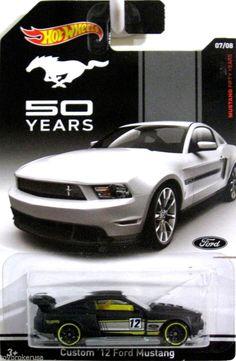 Custom 2012 Ford Mustang Hot Wheels 50 Years Mustang Anniversary Card Walmart #HotWheels #Ford