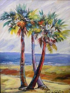 Love the palm tree art!