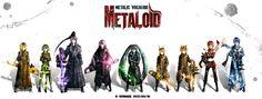 METALOID Hatsune Miku, Vocaloid, Kagamine Rin, Kagamine Len, KAITO, Megurine Luka, MEIKO, Kamui Gakupo, GUMI, Kei-suwabe, Lily (Vocaloid), Kagamine Mirrors