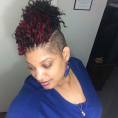 Crochet braids with shaved sides