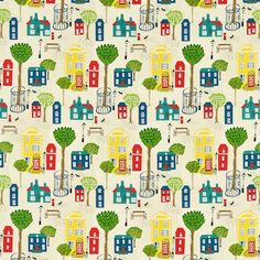 'Jubilee Square' was designed by Wendy Bray in the 1950's and is printed on brushed cotton suitable for upholstery & curtains. The coordinating 'Jubilee Square' wallpaper shows the design coloured in a monotone palette.