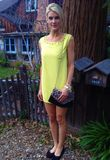 $39.80 SALE Jackie Studded Neon Yellow Dress