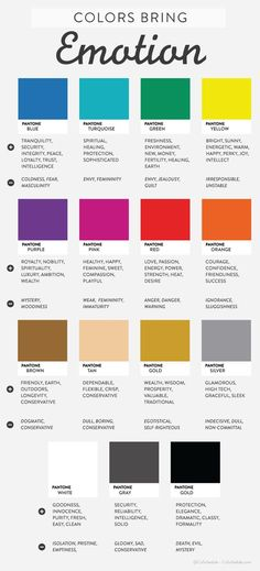 The emotions in colors! Keep these in mind the next time you design :) #infographic