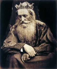 Study of King David by Julia Margaret Cameron. Depicts Sir Henry Taylor, 1866