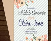 Printable Floral Bridal Shower Invitation-Print Yourself-Digital Invite