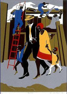 Builders // Jacob Lawrence. Harlem Renaissance