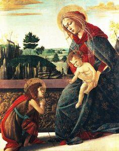 Botticelli Sandro - Madonna con Bambino e San Giovannino - 1491-1493 - collezione privata