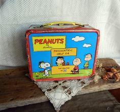 Fantastic Vintage Peanuts Metal Lunchbox by TheGreenwichTeacup, $26.00