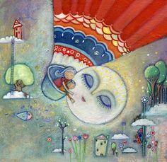 Pinzellades al món: L'encisadora lluna: il·lustracions / La encantadora luna: ilustraciones / The lovely moon: illustrations