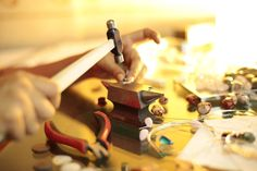 Mythika Handmade Jewelry in the Studio - Priya Jhavar Handmade Jewelry, Candles, Studio, Handmade Jewellery, Jewellery Making, Candy, Studios, Diy Jewelry, Candle Sticks