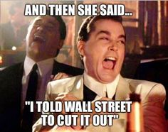 #Bernie #Sanders told the #Banks to get the HELL outta Dodge! Main Street ain't big enough for the two of us!