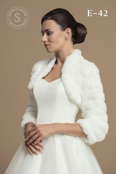 Classic Mink Fur Imitation Bolero Made from high quality materials. This model will keep You warm during the wedding for sure ! If You have any questions do not hesitate to ask. Measurment can be found in gallery. Made in EU. Black White Wedding Dress, Bridal Tops, Bridal Shrug, Nicole S, Mink Fur, Tie The Knots, Autumn Wedding, Wedding Accessories, One Shoulder Wedding Dress