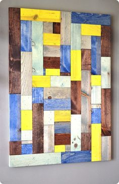 Pieced Wood Artwork {You can customize the size and colors!}
