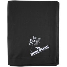 Doberman - Life Is Better With A Doberman Paws - Embroidered Sweatshirt Blanket