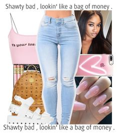 """""""Back to School Outfit #3"""" by jayda-jaydaa ❤ liked on Polyvore featuring Casetify, Mead, MCM and JuJu"""