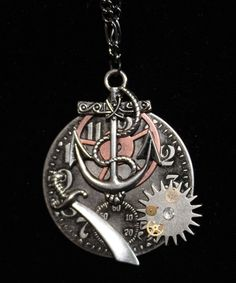 SOLD! Steampunk Pirate necklace
